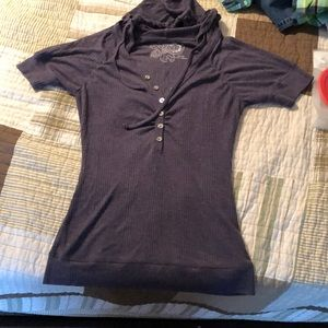 Half sleeve top hoodie
